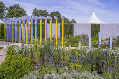 Scotty's Little Soldiers Garden. Designed by: Graeme Thirde. Sponsored by: Scotty's Little Soldiers. RHS Hampton Court Palace Flower Show 2015.