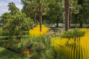 The World Vision Garden. Designed by: John Warland. Sponsored by: World Vision. RHS Hampton Court Palace Flower Show 2015.