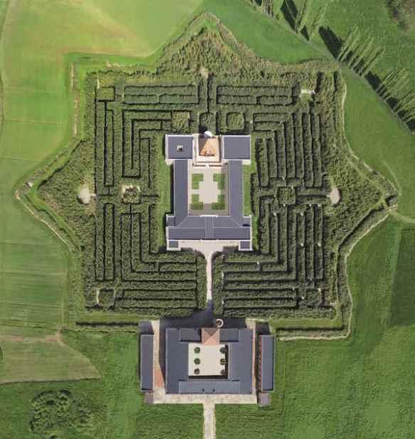 Labirinto della Masone from the air