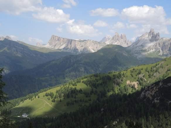 The scenic Dolomites