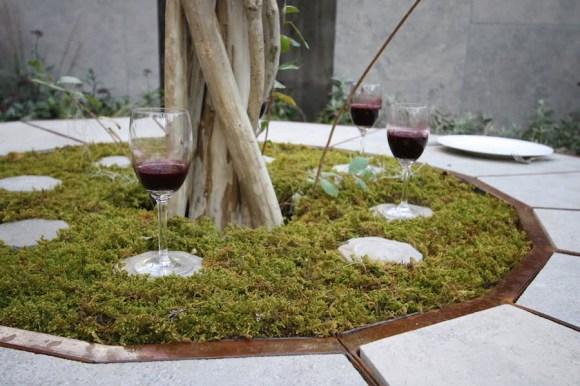 Moss table detail in The Tea Garden Design Ross Uebergang Japan World Flower and Garden Show 2015