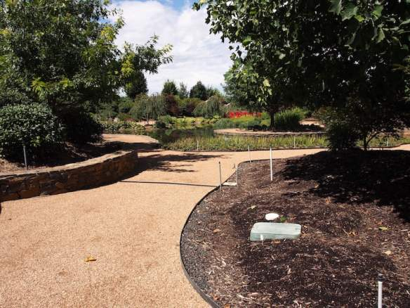 Bare garden beds and irrigation controllers Mayfield Water Garden 2016