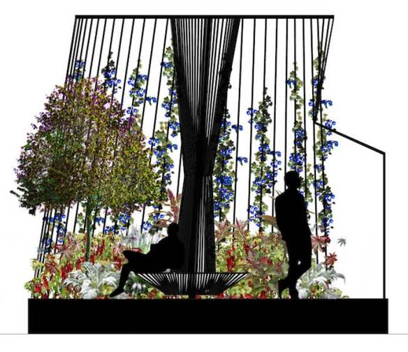 R(h)ope Boutique garden for MIFGS 2016 Design Gardenridge plan - elevation