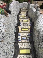 Giants House mosaic walkway with walls_600x800