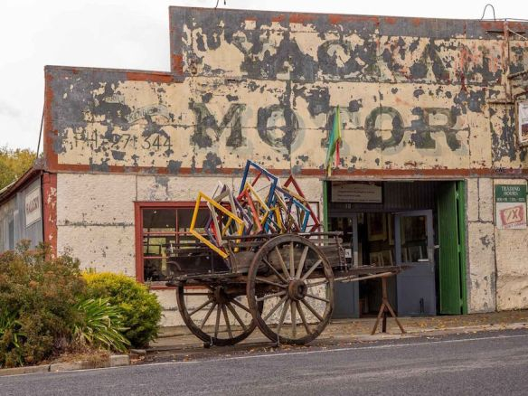 Old garage repurposed in Yackandandah