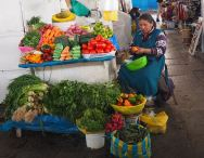 Colourful vegetable stall