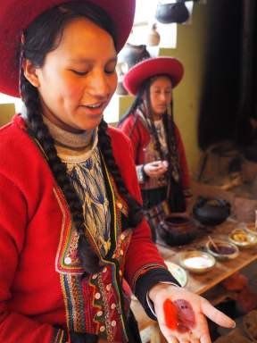 Weaving lessons at Chinchero, Sacred Valley of Incas
