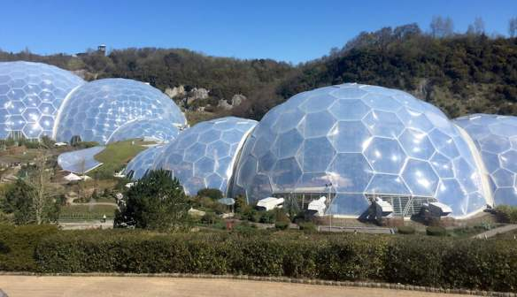 Biodomes at The Eden Project, Cornwall, UK