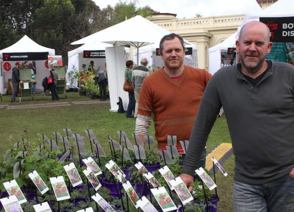 Matt and Mike of Antique Perennials at the Botanic and Rare Plant Fair Melbourne