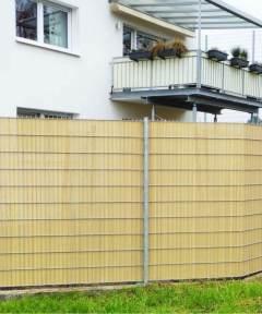 Cañizo-PVC-bambú-media-caña-separación-ocultación-decoración-valla-jardín-hogar