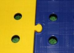 placas de pvc color amarillo y azul