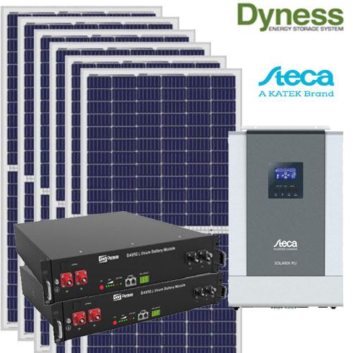 Kit solar 2400w bateria litio 4,8