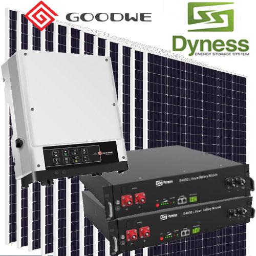 kit solar hibrido 5000w baterías red conexión