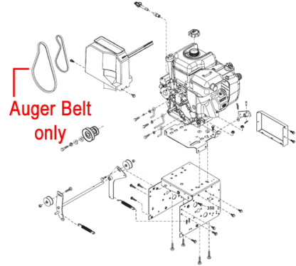 Stiga Snow 1171 & 1381 Pro HST Traction Drive Belt 1812