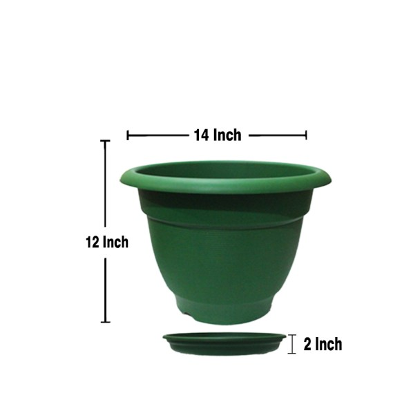 Size of planter with Saucer 14 Inch