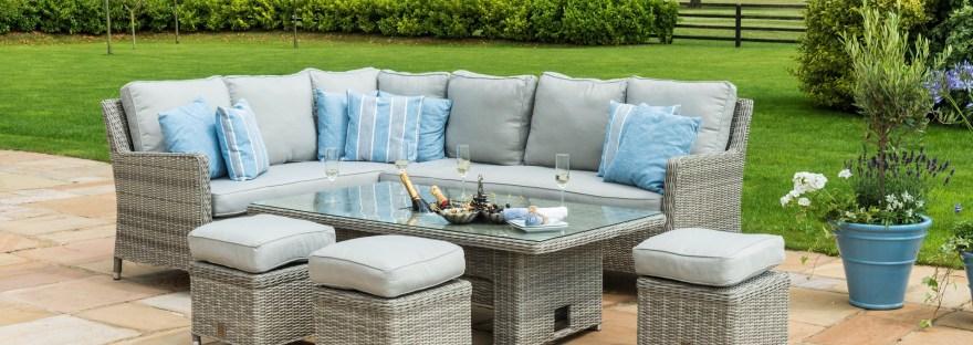 garden corner sofa sets rattan