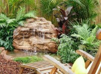 Medium Backyard Garden Pond Waterfall Rock, designs, kits