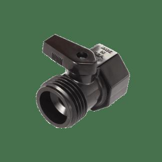 Dramm 35 Plastic Shut-Off Valve Black 73035-BK