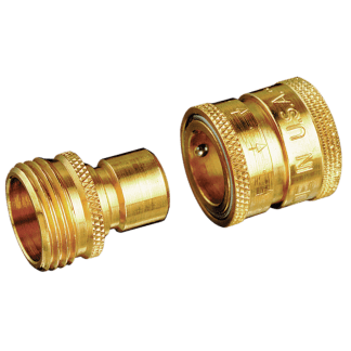 Dramm Brass Quick Disconnect Water Stop Pair 740