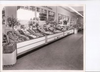 1957 Lamb's Thriftway grand opening. Produce aisle.