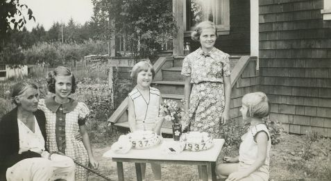 1937 Zora and Sharka Becvar birthday party