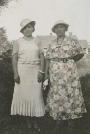 Millie & mother Frances Becvar, 1935