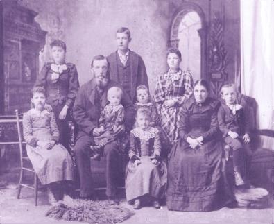 Detlef and Maria Scherner family, circa late 1890s