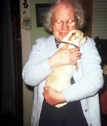 Gertrude Jones and dog