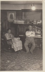 Fannie and Morris Pallay inside the house on Garden Home Road