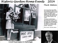 2014 Historic Garden Home Events calendar cover