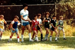 GHS 1982 Last Day - field day - Rick Evers, kids