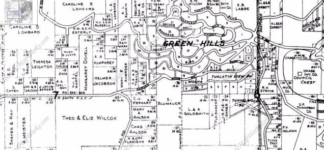 1927 Metsker's Atlas of Multnomah County, page 20.