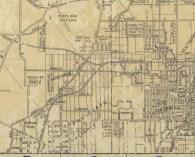 1946 Pittmon street map city of Portland detail