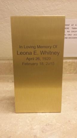 Leona Whitney, 1920-2015