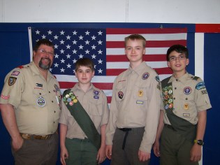 Boy Scouts volunteered their help!