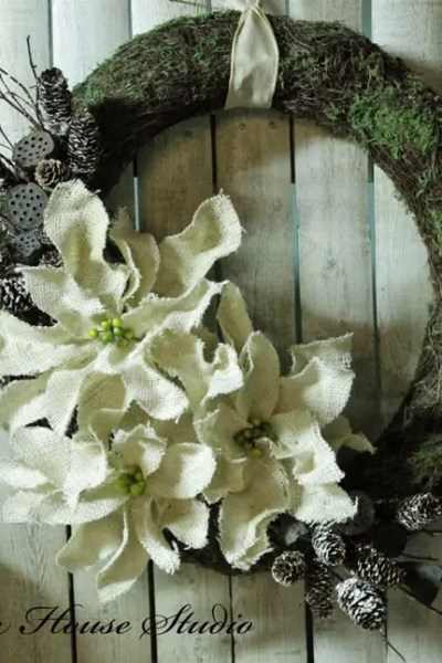 what to do with a burlap poinsettia