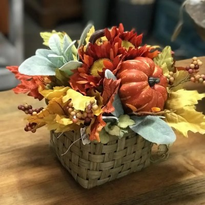 Budget Fall Centerpiece Quick and Easy