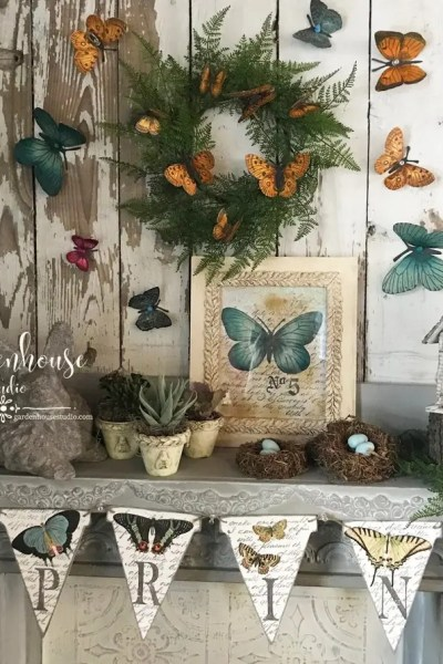 Spring decorating with IOD Decor