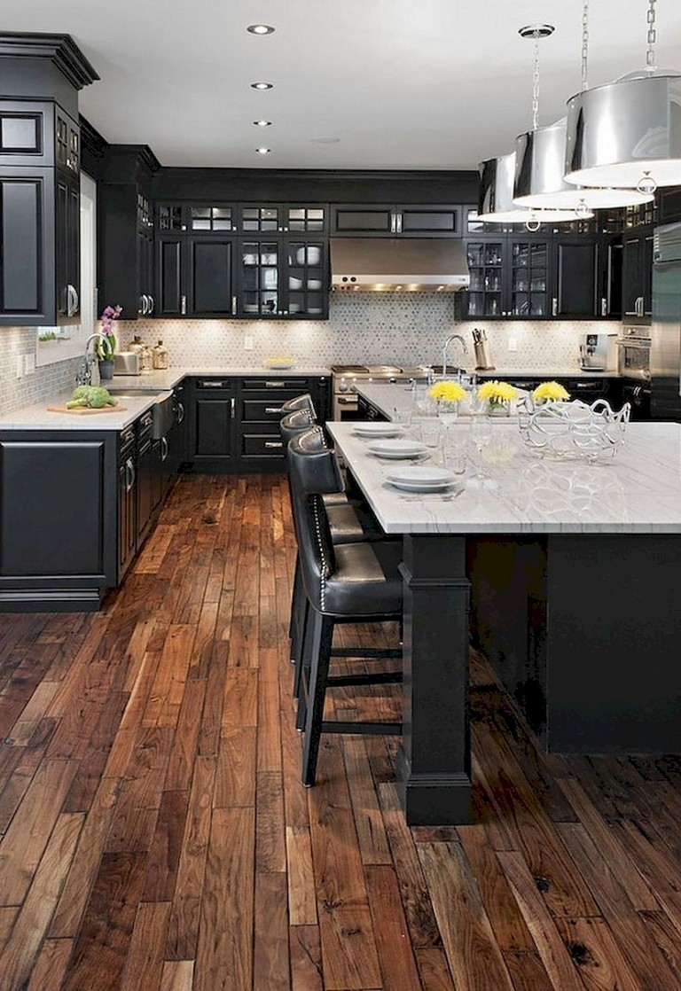 63+ Marvelous Modern Farmhouse Kitchen Cabinet and Countertops Ideas