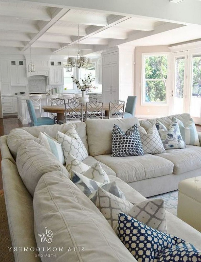 65+ Awesome Clean Coastal Living Room Decorating Ideas   Page 30 of 66