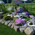 40 Beautiful Front Yard Rock Garden Landscaping Ideas (21)