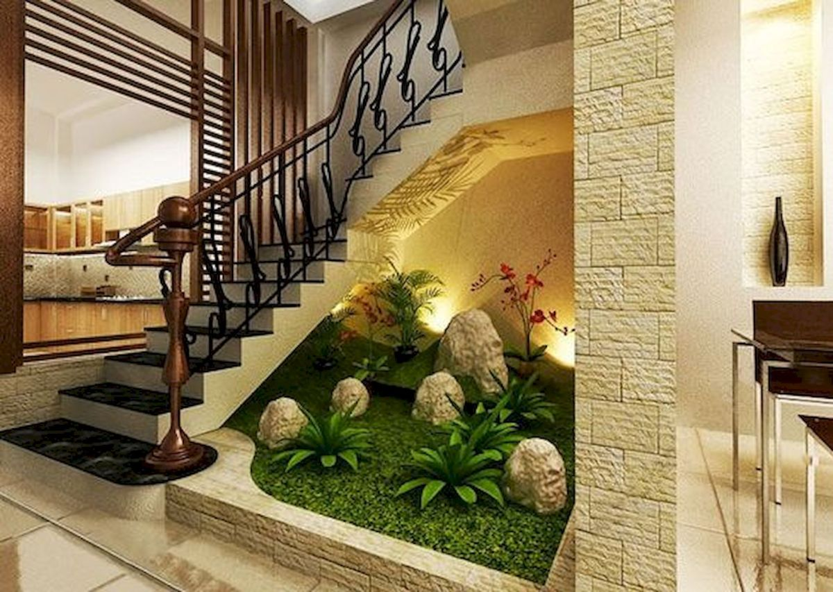 40 Awesome Indoor Garden Design Ideas That Look Beautiful (28)