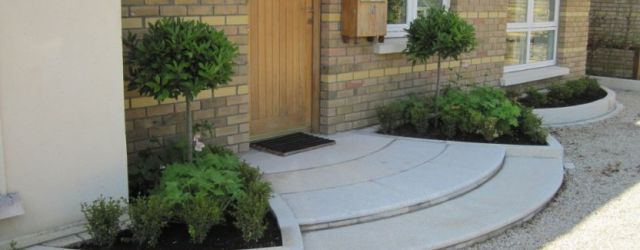 Cool  front garden design with parking