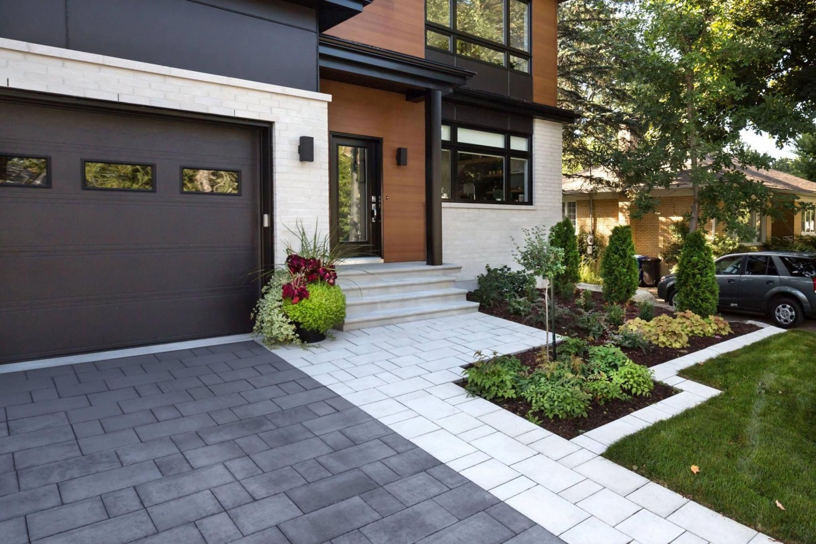 Awesome Front Garden Ideas With Driveway