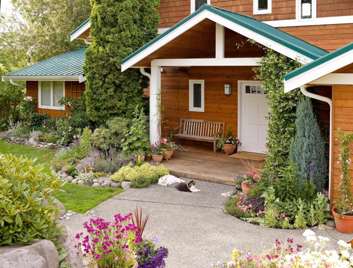 Cool  front garden ideas with driveway