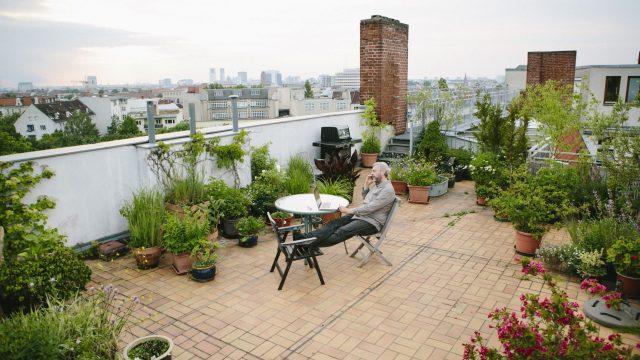 Fantastic simple terrace garden ideas