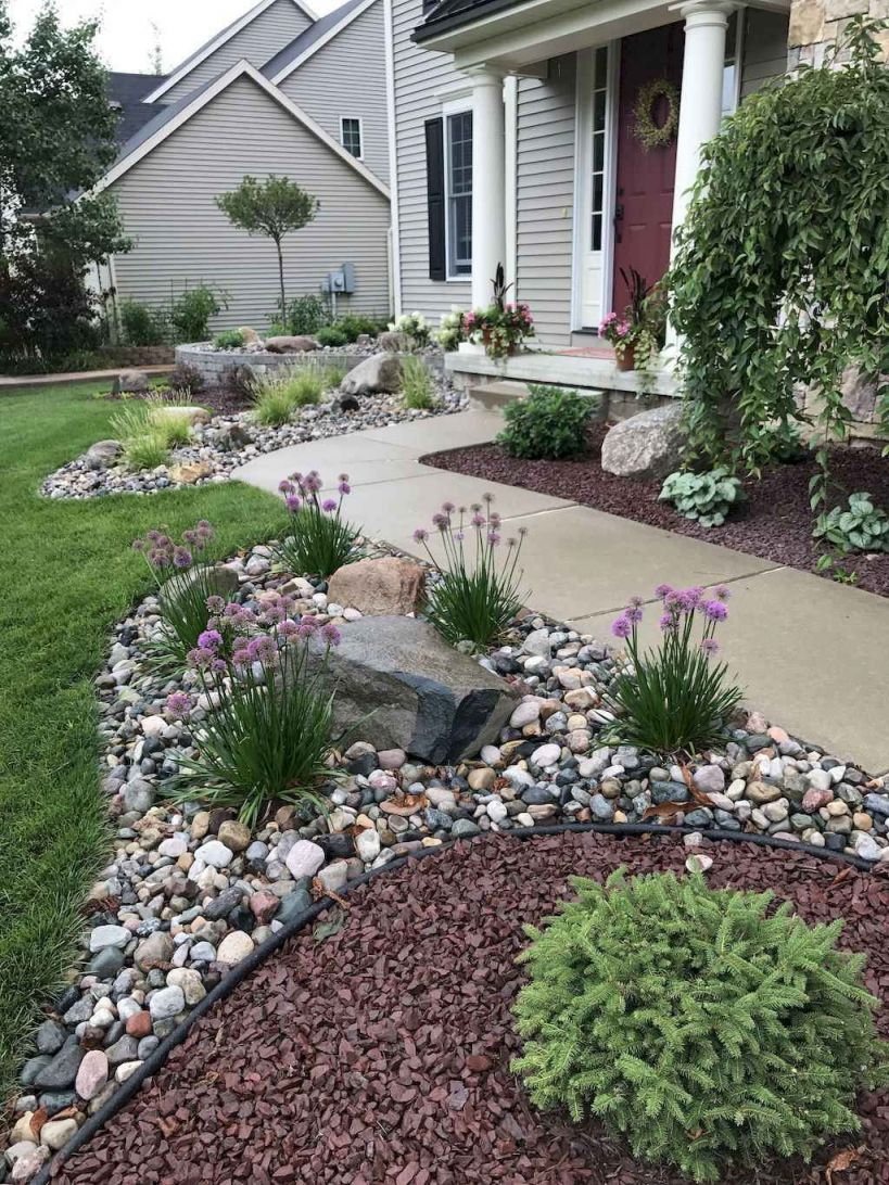 Gorgeous Rock Garden Ideas For Front Yard