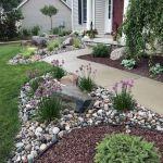 Gorgeous Rock Garden Ideas For Front Yard
