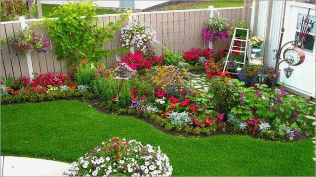 Nice backyard flower bed ideas
