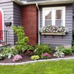 Adorable  flower garden ideas in front of house